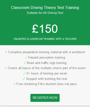 unlimited classroom trainign driving theory test