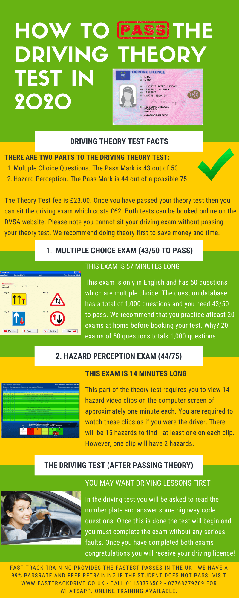 How to pass the driving theory test in 2020 an infographic