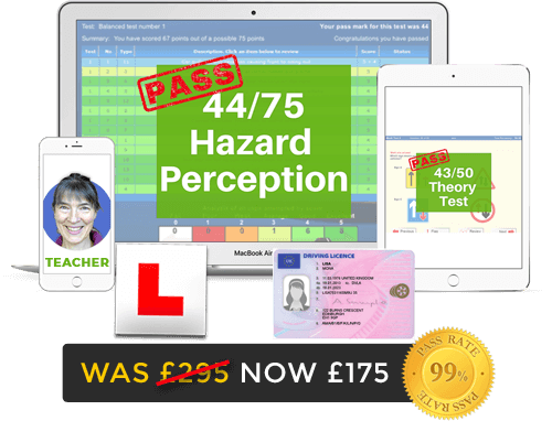 Online driving theory test training