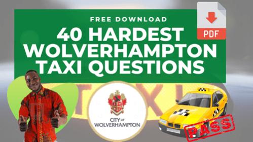40 Wolverhampton Hardest Taxi Questions
